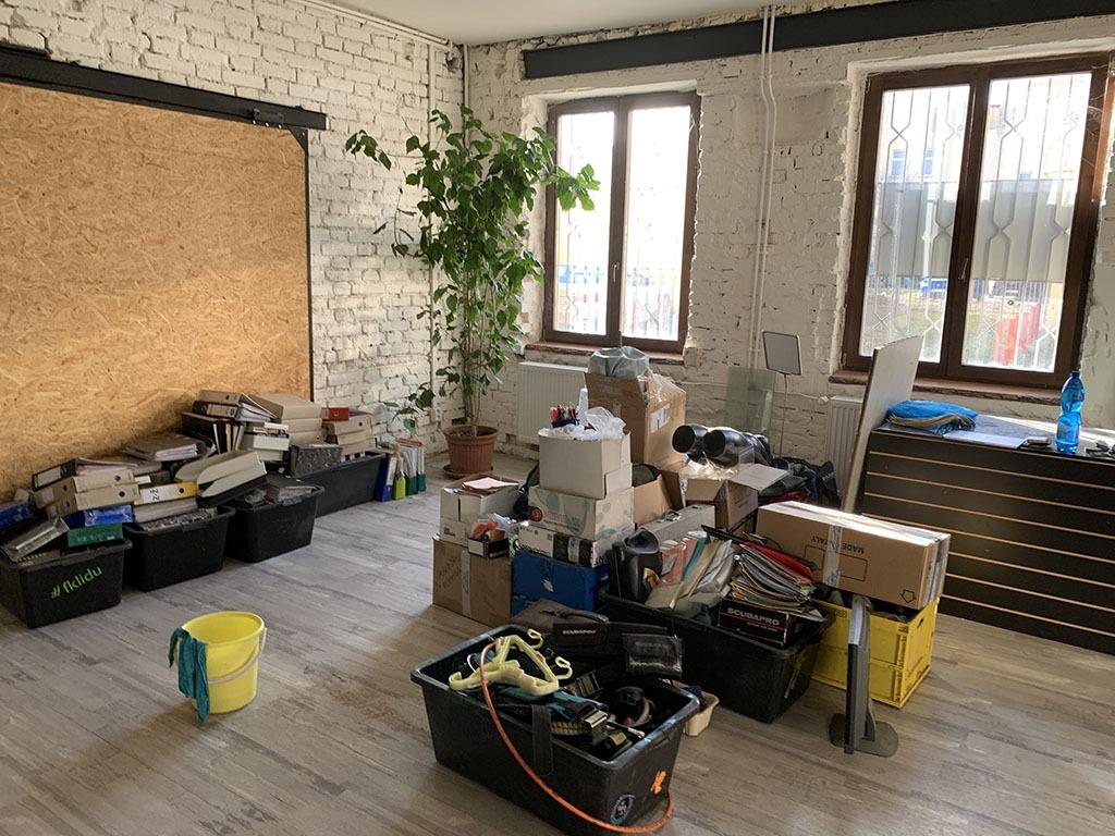 ALBE | Budování nové prodejny uvnitř