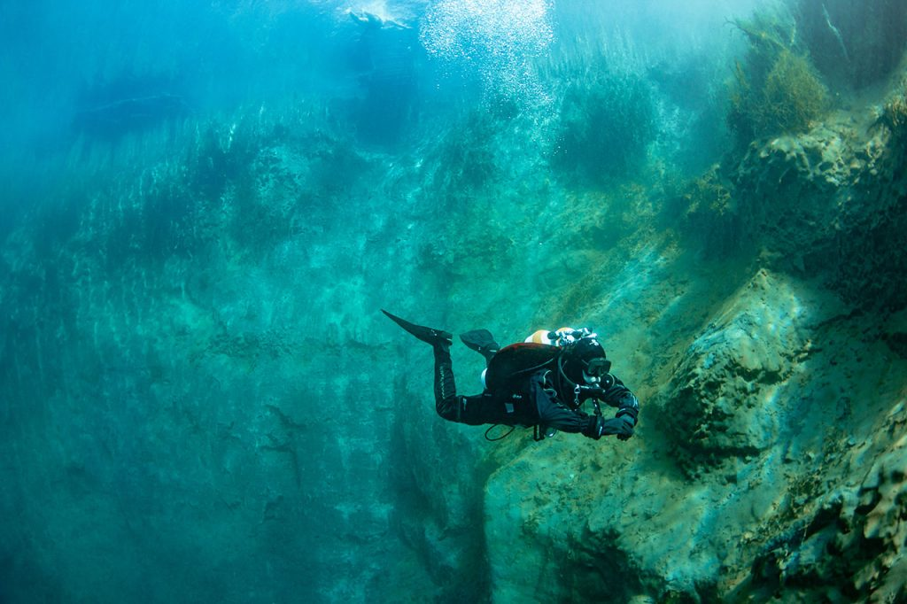 Potápění v suchém obleku ALBE