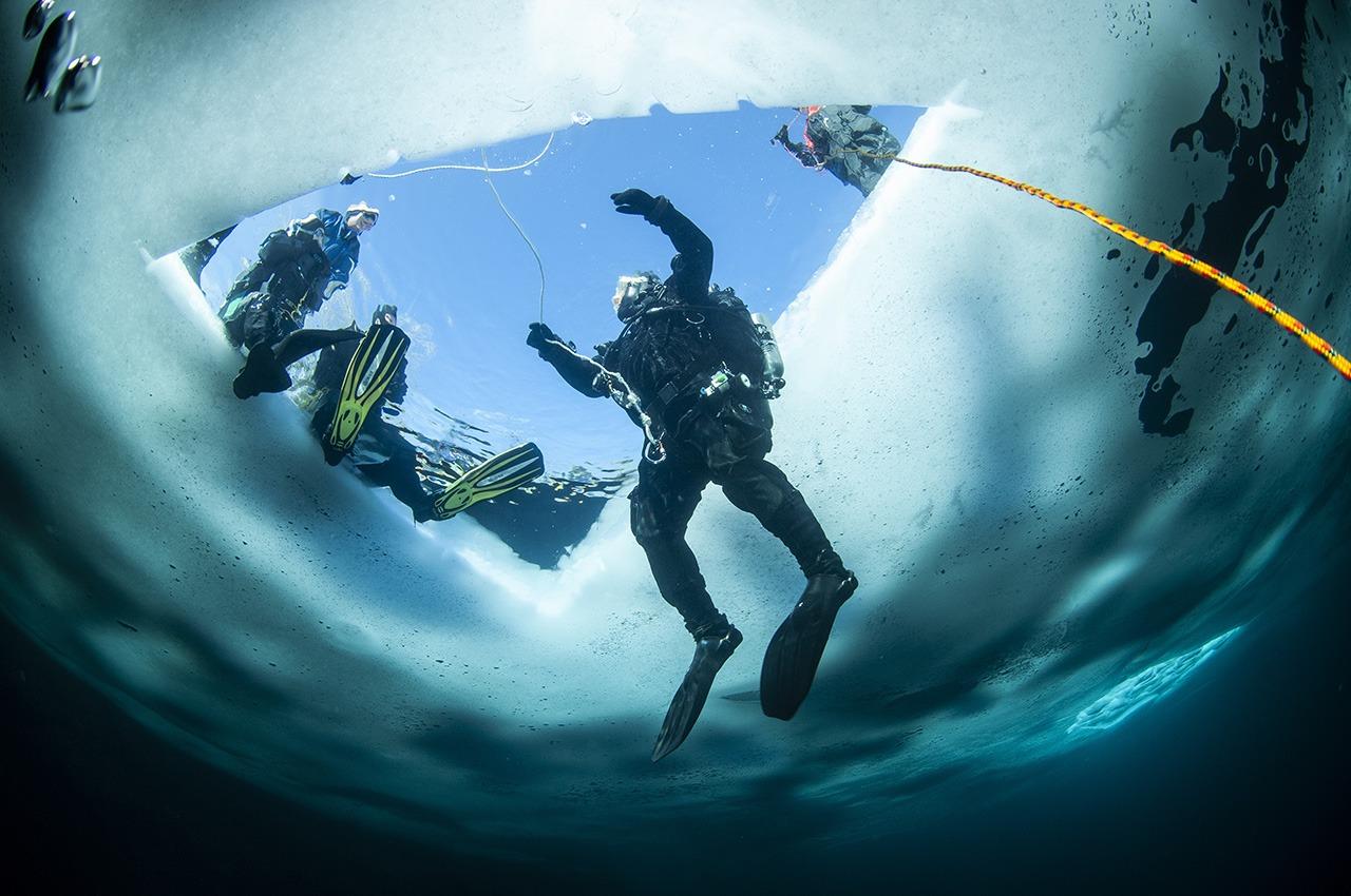 ALBE | Pravidla potápění pod ledem